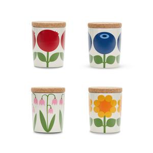 4 pcs jars 0.2 L with cork lid (spice jar/tea jar/candy jar)