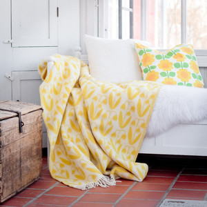 Wool blanket Linnea, yellow