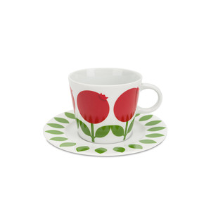 Cup with saucer 25 cl, Lingonberry (second choice)
