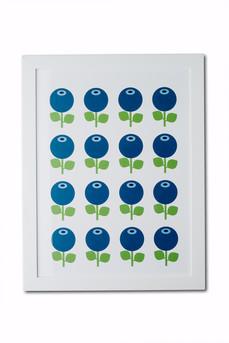 Poster A3, Blåbär mönster