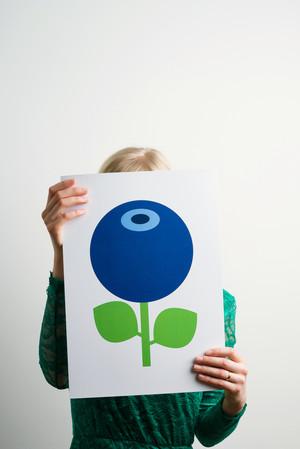 Poster A3, Blåbär stort