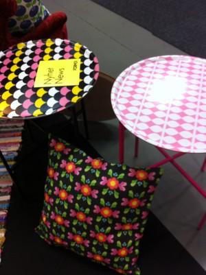Brickbord, Retro blad rosa