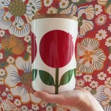 Kaffeburk 1,5 L med trälock, Lingon (2-handssortering)