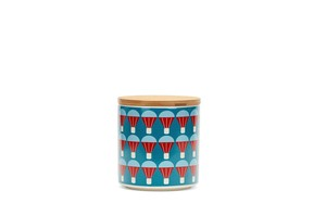 Jar 0,75 L with wood lid, ballon blue