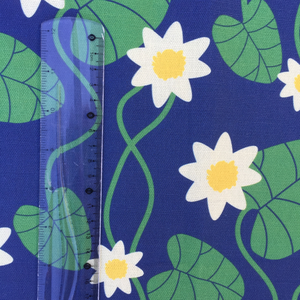 Fabric By The Meter, Water Lily blue