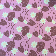 Fabric By The Meter, Water Lily pink