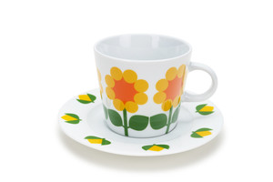 Cup with saucer 25 cl, Cloudberry  (Second choice)