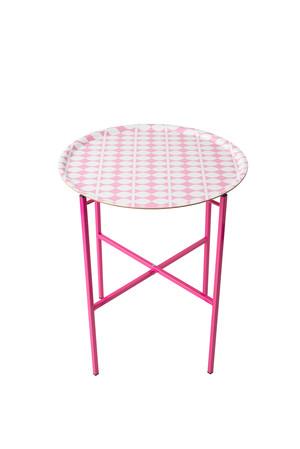 Bricka 46 cm, rosa blad