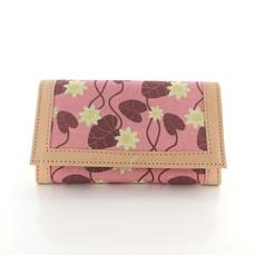 Skinnplånbok Näckros rosa (utställningsex)