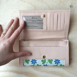 Leather wallet Hepatica