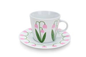 Kaffekopp med fat 25 cl, Linnéa