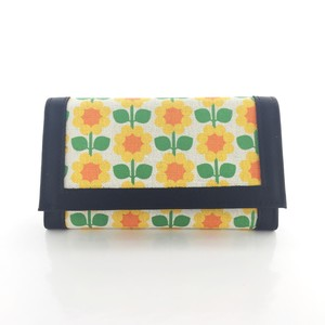 Leather wallet Cloudberry (black)