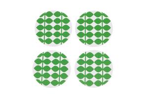 "Glasunderlägg 9 cm, Retro ""leaf green"""
