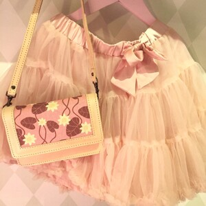 Skinnväska mini, Näckros rosa (utställningsex)