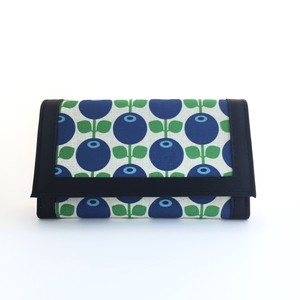 Leather wallet Blueberry (black)