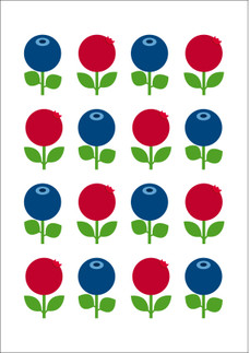 Poster A3, Lingon & blåbär