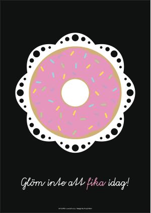 Poster A3, Munk (glöm inte att fika idag)
