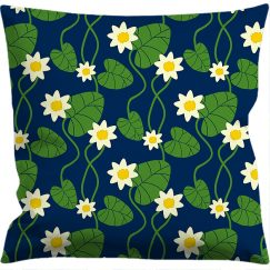 Cushion cover 50x50 cm, Water lily blue