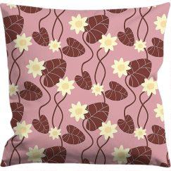 Kuddfodral 50x50 cm,  Näckros rosa